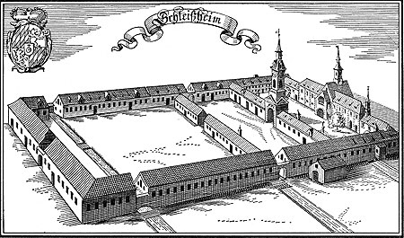 Picture: The Old Palace, engraving, 1687