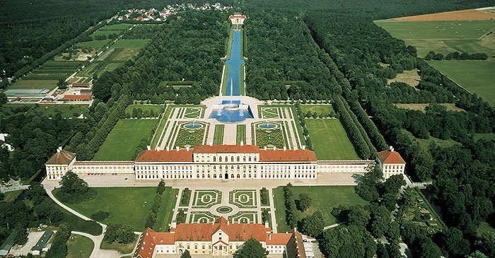 Picture: Aerial view of the Schleißheim palace complex