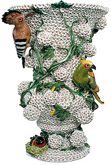 Picture: Snowball vase with birds