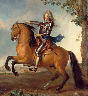 Picture: Elector Max Emanuel on horseback, painting by Martin Maingaud