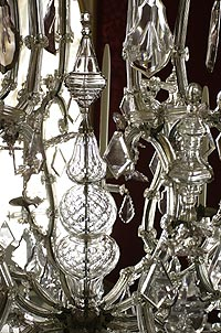 Picture: Glass chandelier, detail