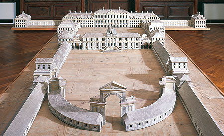Picture: Model of Schleißheim palace made of wood