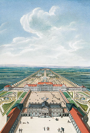 Picture: Idealized view of the Old and New Palace